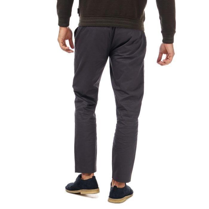 Men's Ted Baker Cliftro Piece Dyed Cotton Trousers in Grey