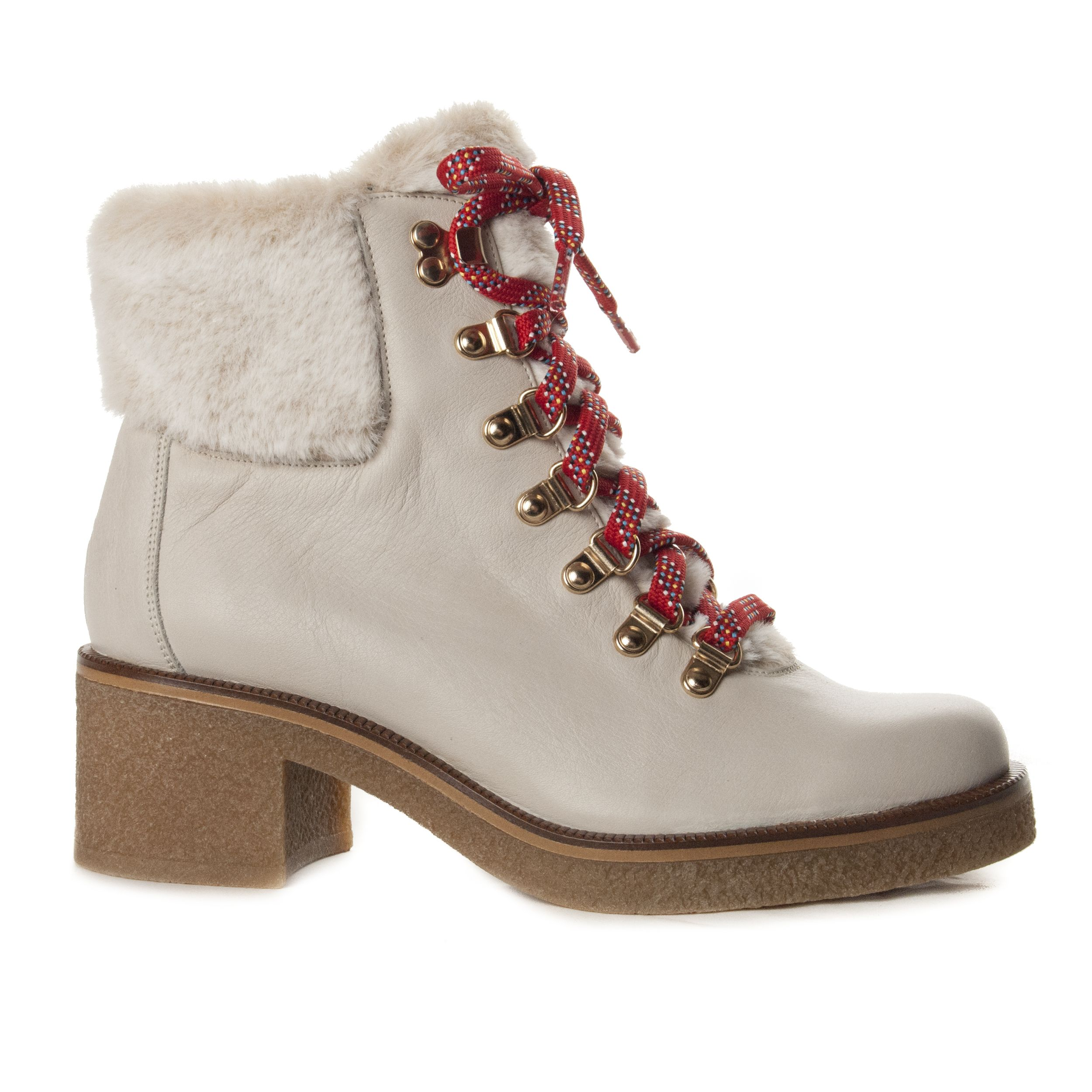 Montevita Lace Up Ankle Boot in Grey