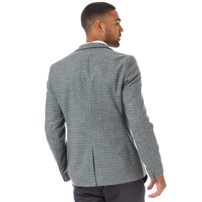 Men's Ted Baker Zolla Cross Hatch Jacket in Grey