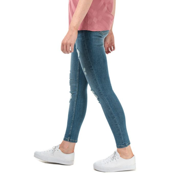 Women's Ted Baker Kimmle Ripped Skinny Jeans in Blue