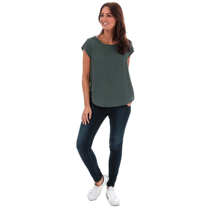 Women's Only Vic Short Sleeve Top in Green