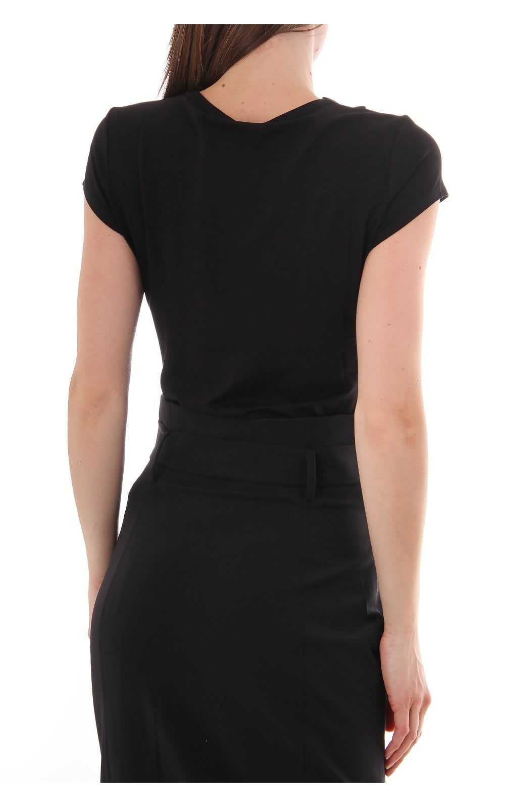 Ted Baker Charre Bow Neck Trim Detail Tee, Black