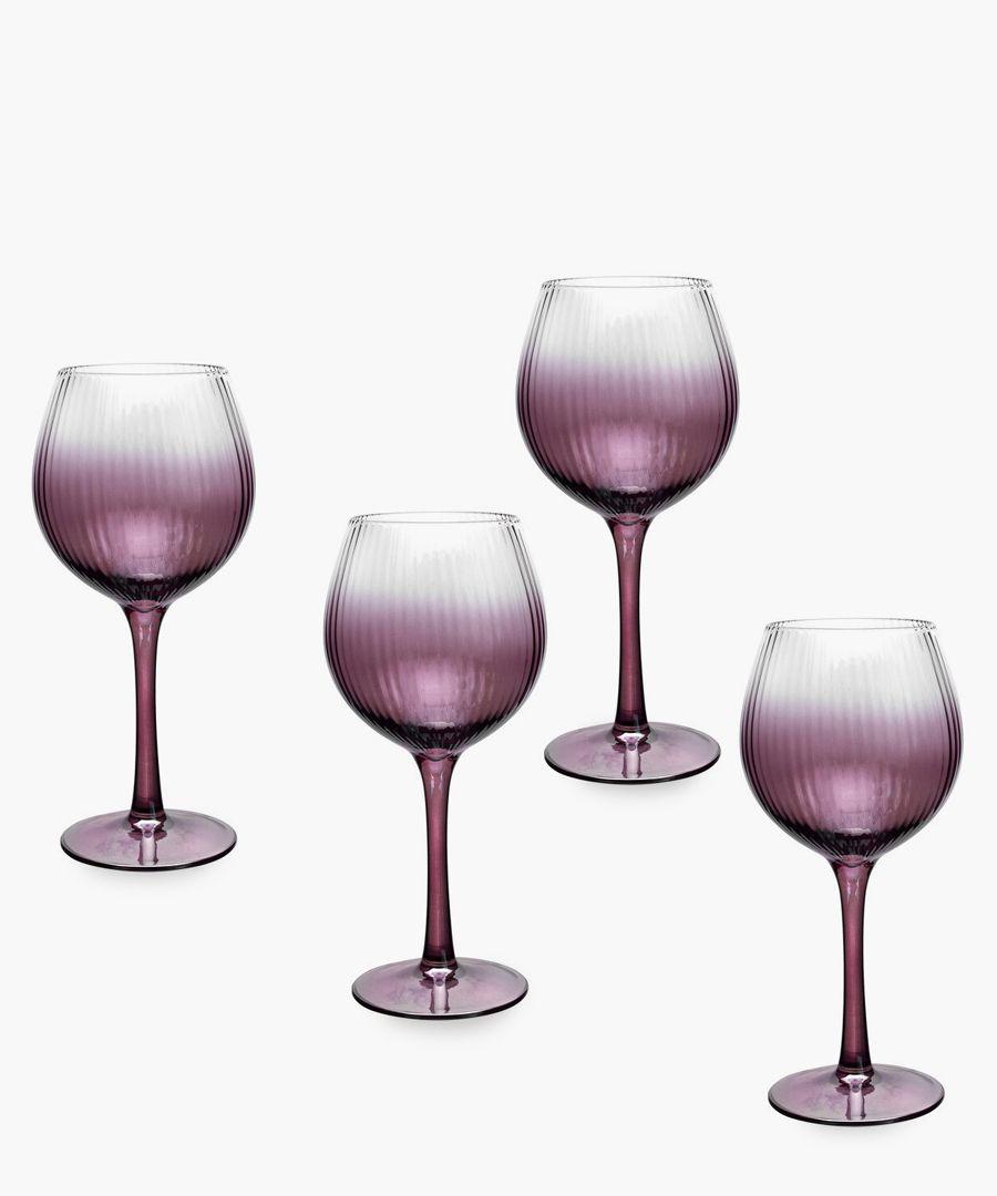 4pc Spode Kingsley wine glasses