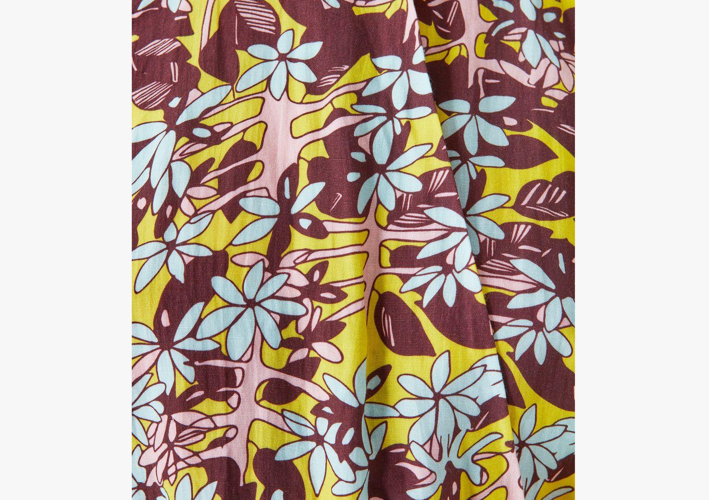 Violet Printed Linen Playsuit - Multi