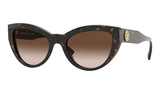 Versace Cat eye plastic Women Sunglasses Havana / Brown Gradient