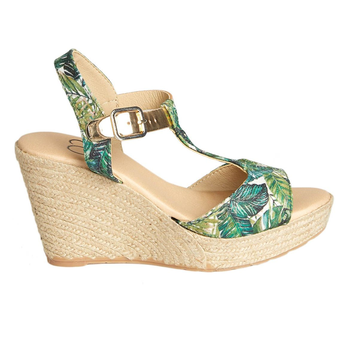 Leindia Sparto Wedge Sandal in Green