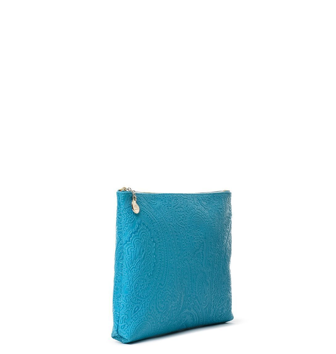 ETRO WOMEN'S 1E3802744250 LIGHT BLUE LEATHER DOCUMENT HOLDER