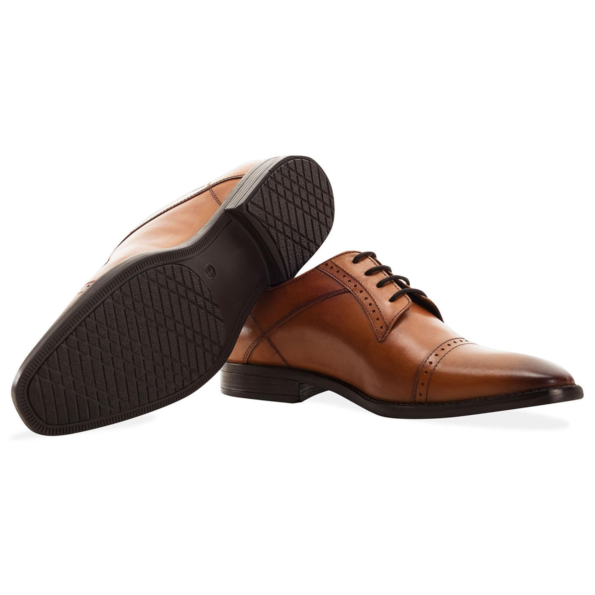 Redfoot Raymond Tan Leather Derby Brogue