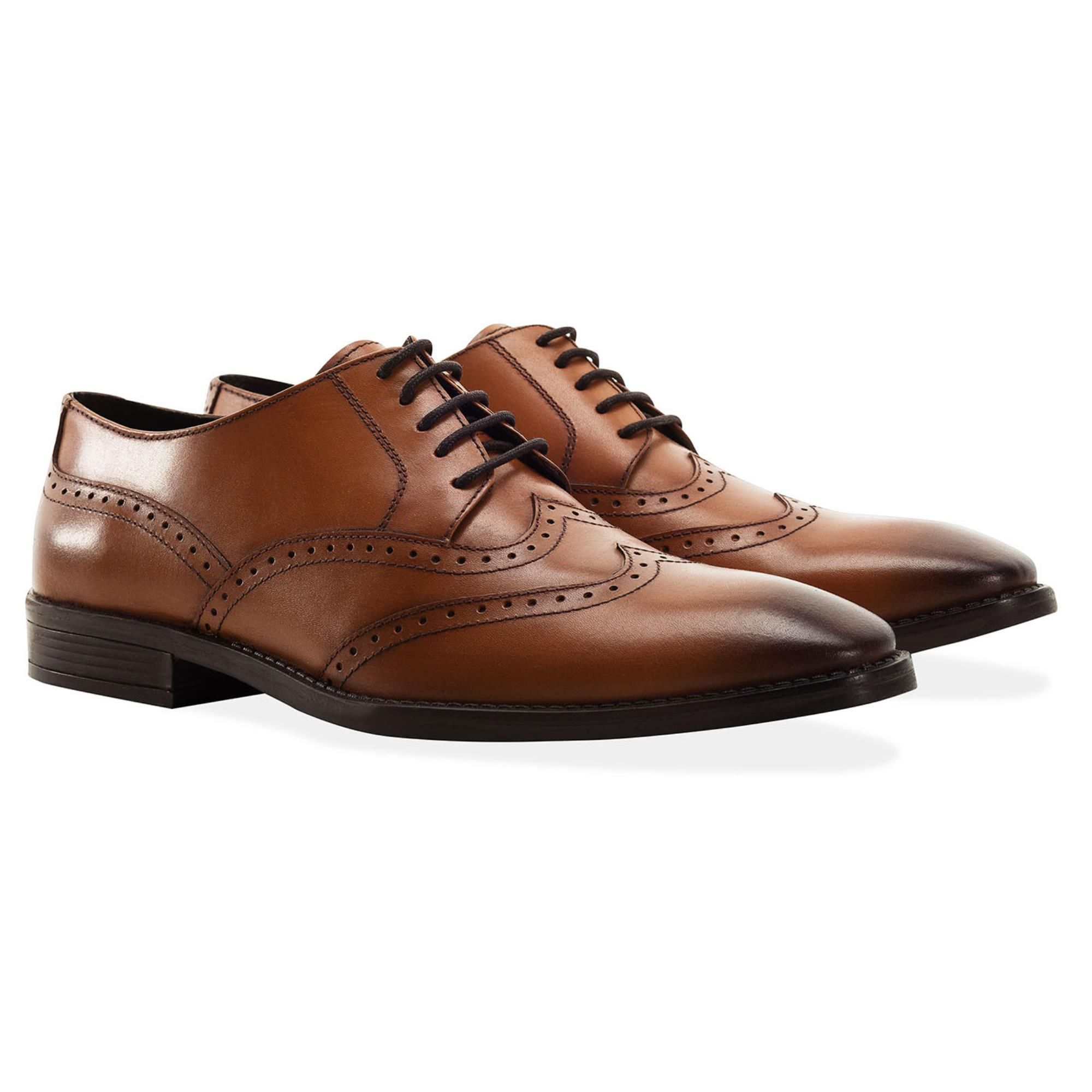 Redfoot Arthur Tan Leather Derby Shoe