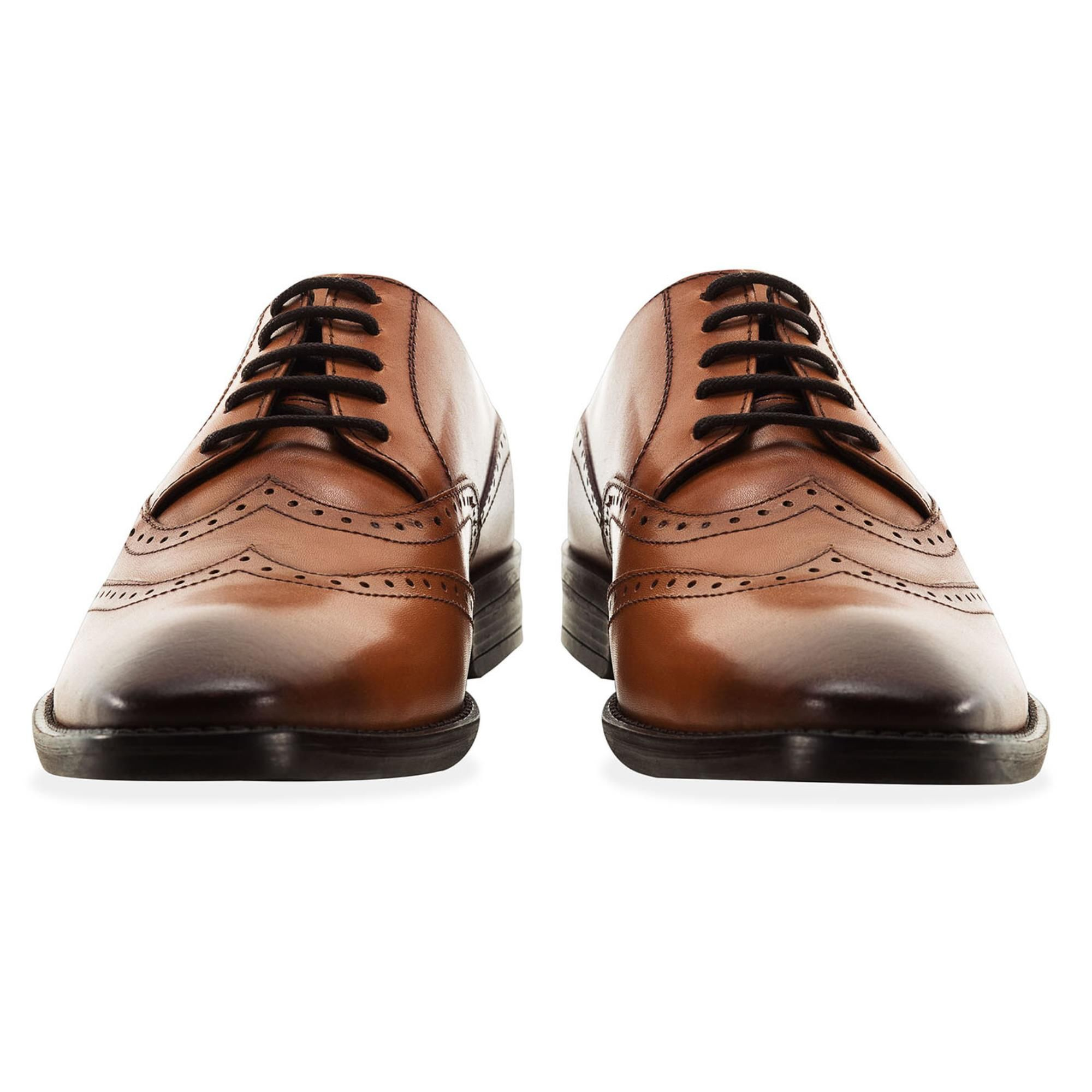 Redfoot Arthur Tan Leather Derby Shoe