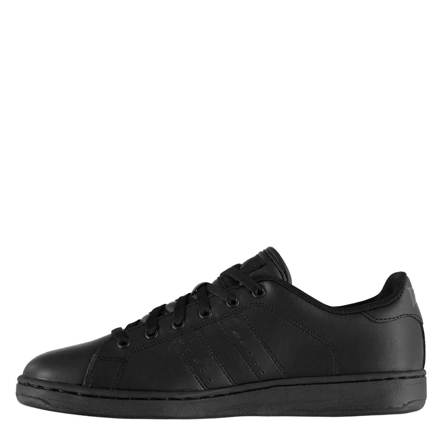 Lonsdale Mens Leyton Leather Trainers Full Lace Up Sport Casual Shoes