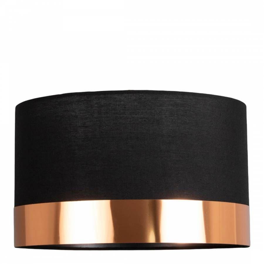Nela Black and Copper 30cm Pendant Ceiling Light Shade