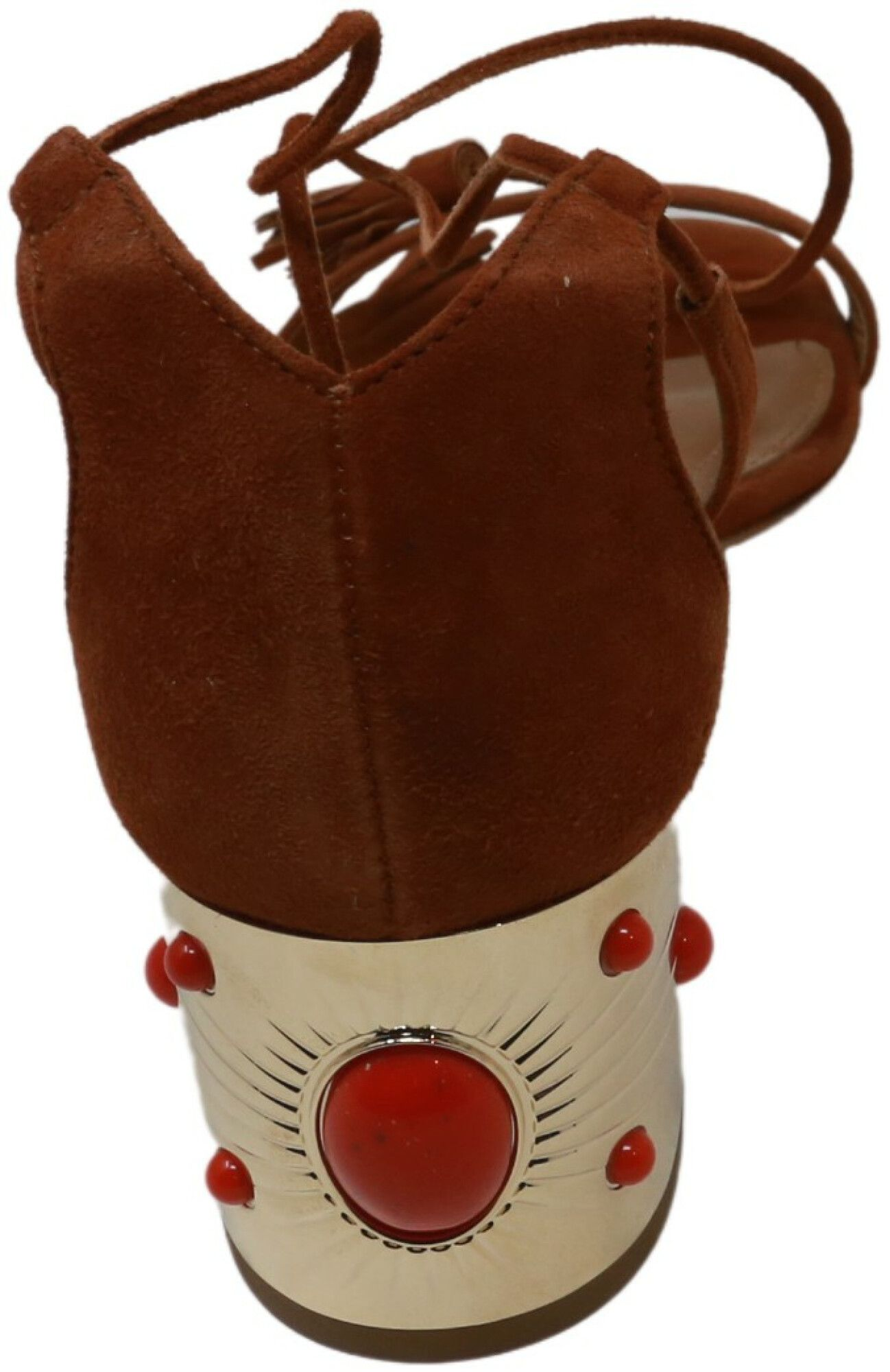 Aquazzura Firenze Women's Cleopatra Sandal 50 Suede Ankle-High Pump