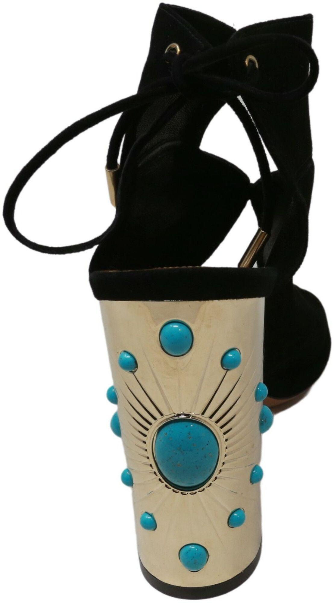 Aquazzura Firenze Women's Pasadena Sun Sandal Leather Pump