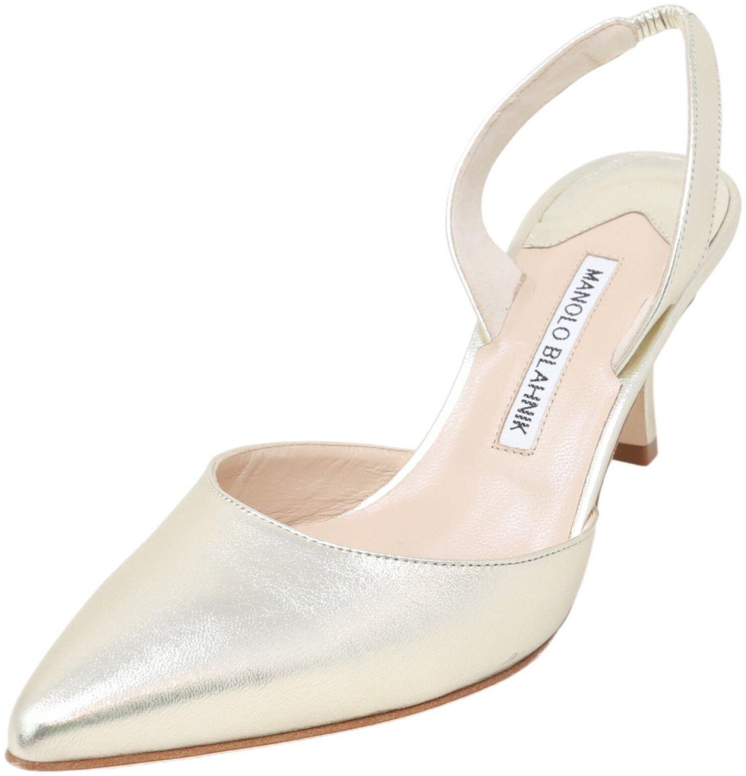 Manolo Blahnik Women's Carolyne Napa Ankle-High Leather Pump