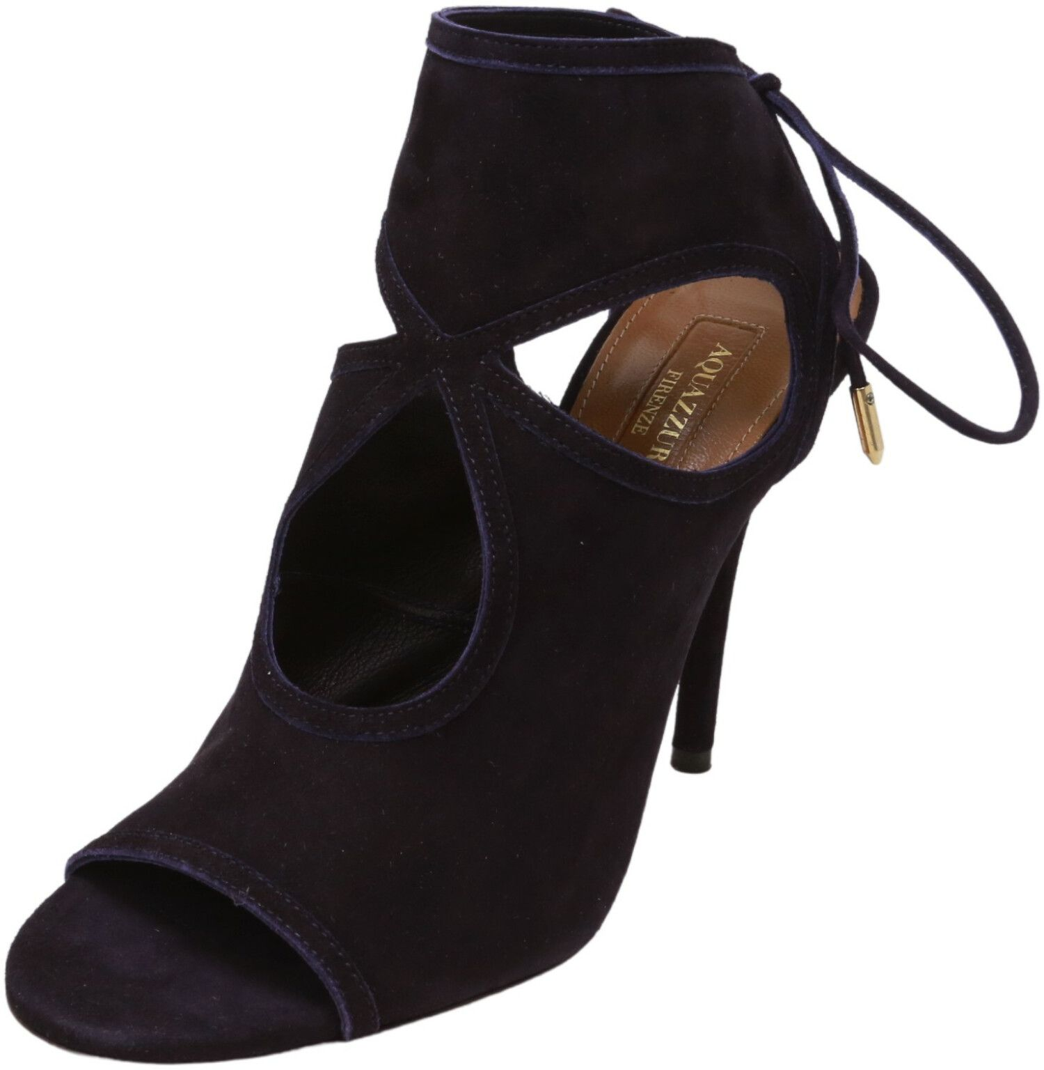 Aquazurra Firenze Women's Sexy Thing 105 Suede Sandal High-Top Leather Pump