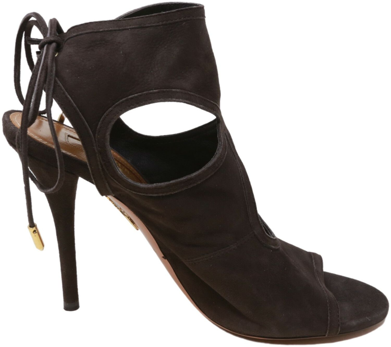 Aquazzura Firenze Women's Sexy Thing 105 High-Top Leather Heel