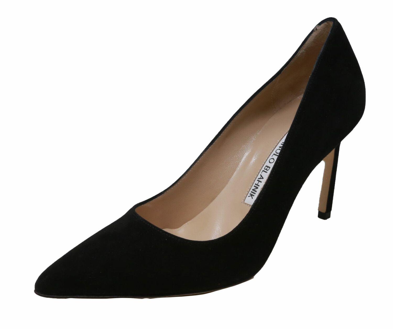 Manolo Blahnik Women's Suede Pump Ankle-High Leather
