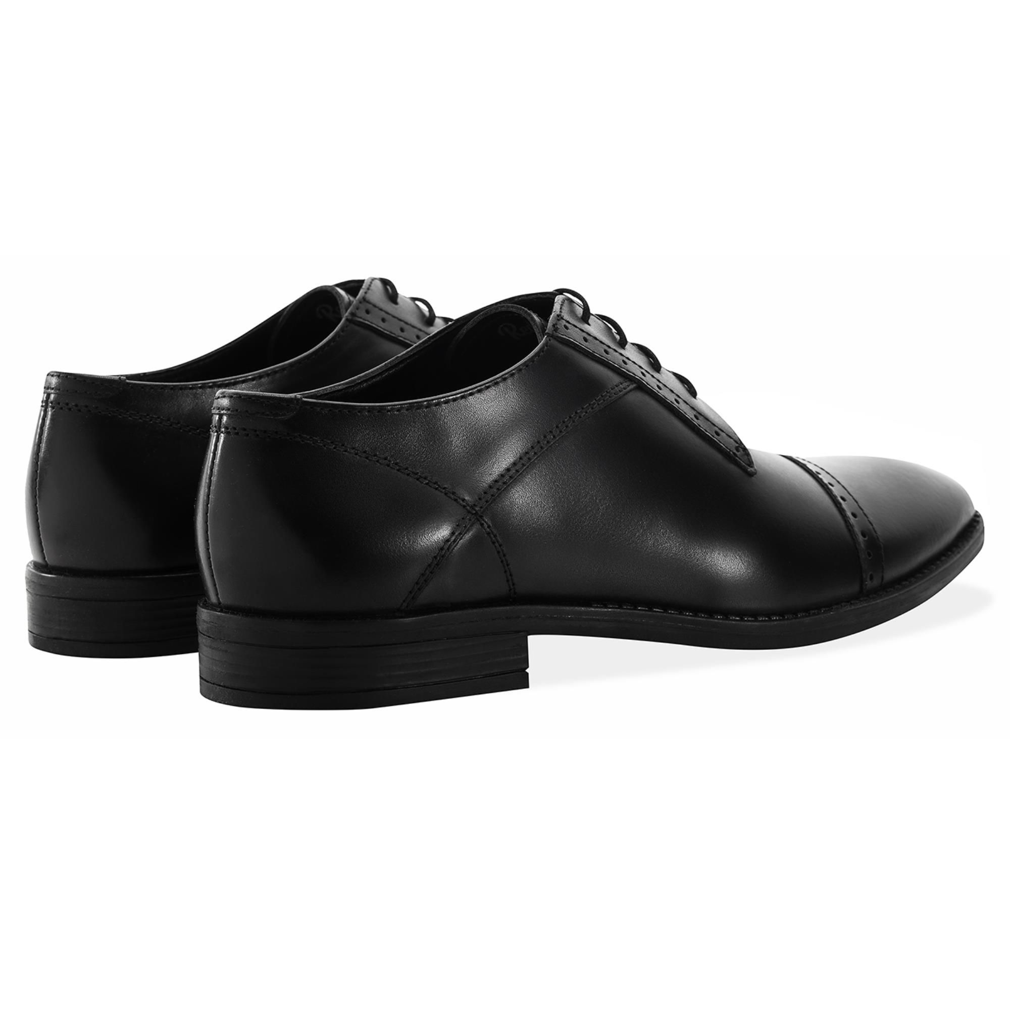 Redfoot Raymond Black Leather Derby Brogue