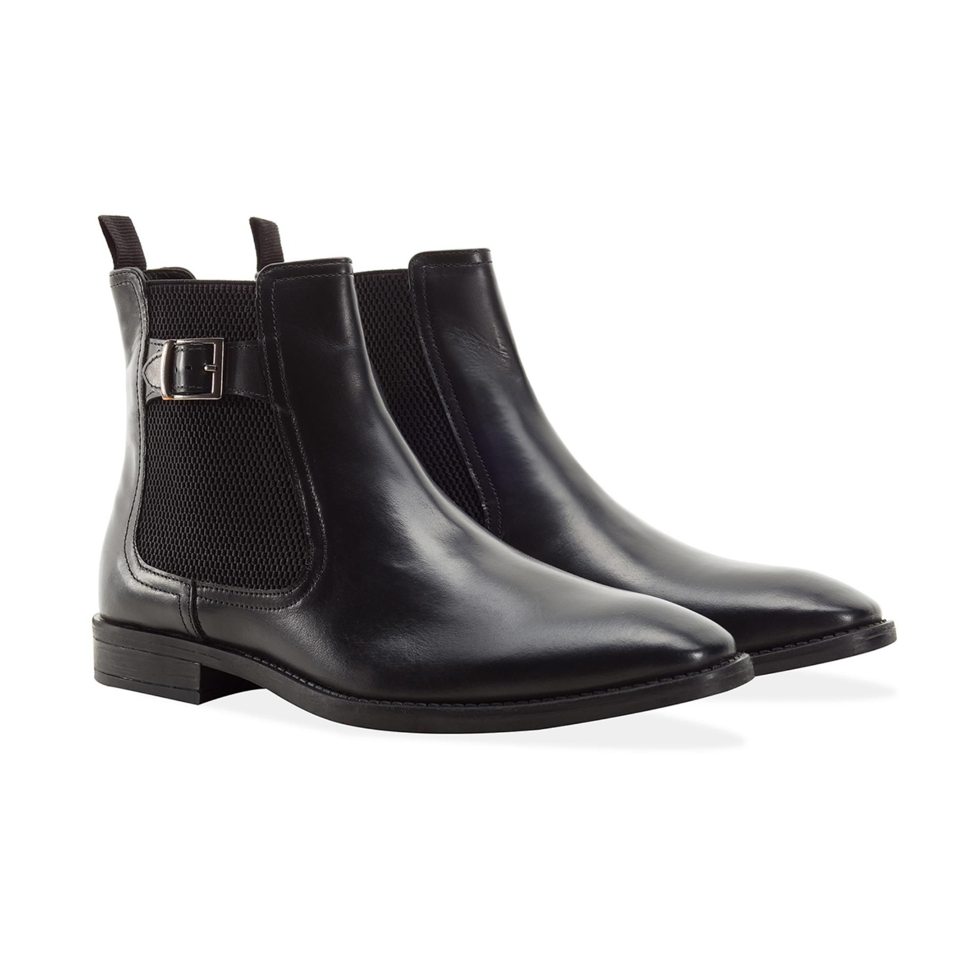 Redfoot Harold Black Leather Chelsea Boot