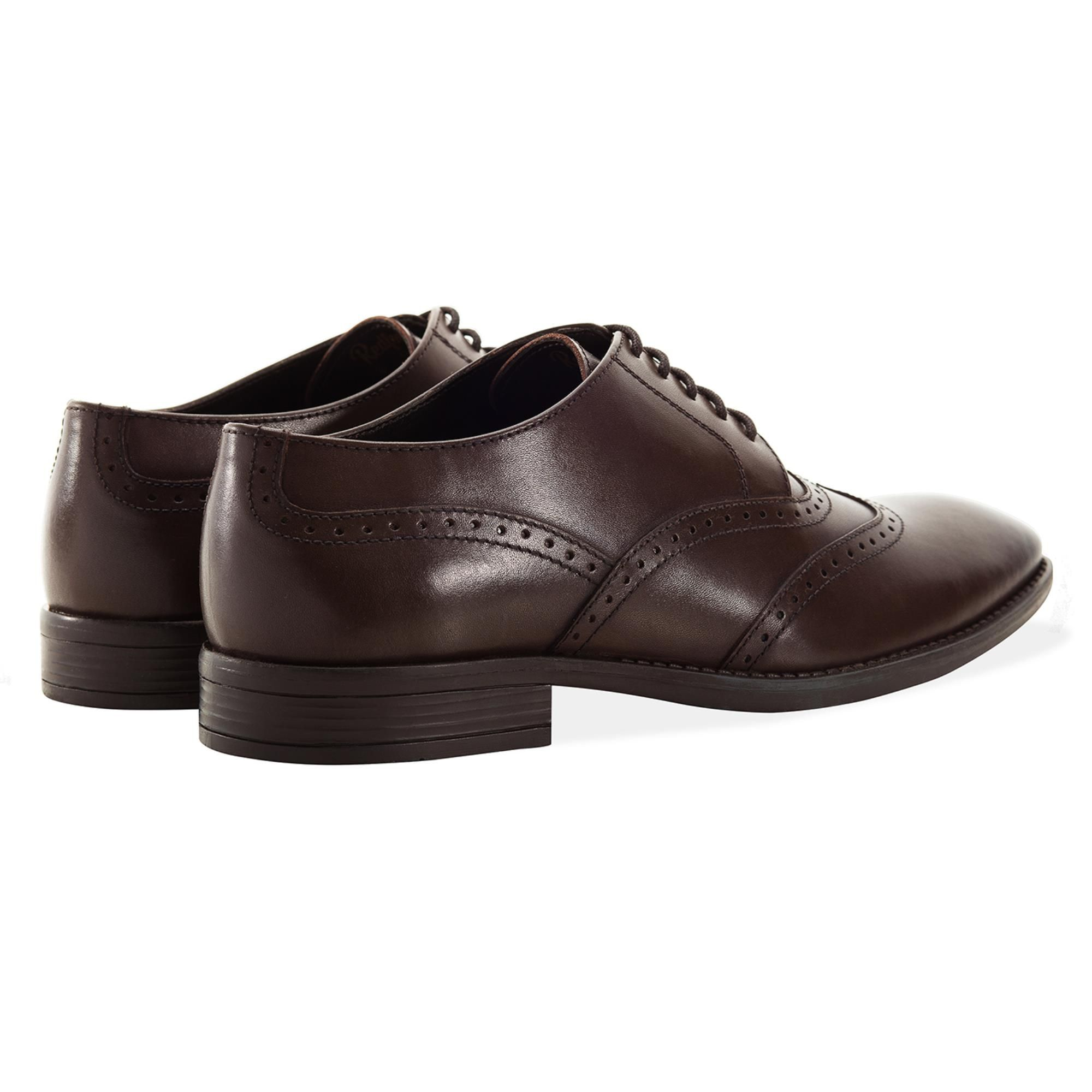 Redfoot Arthur Brown Leather Derby Shoe