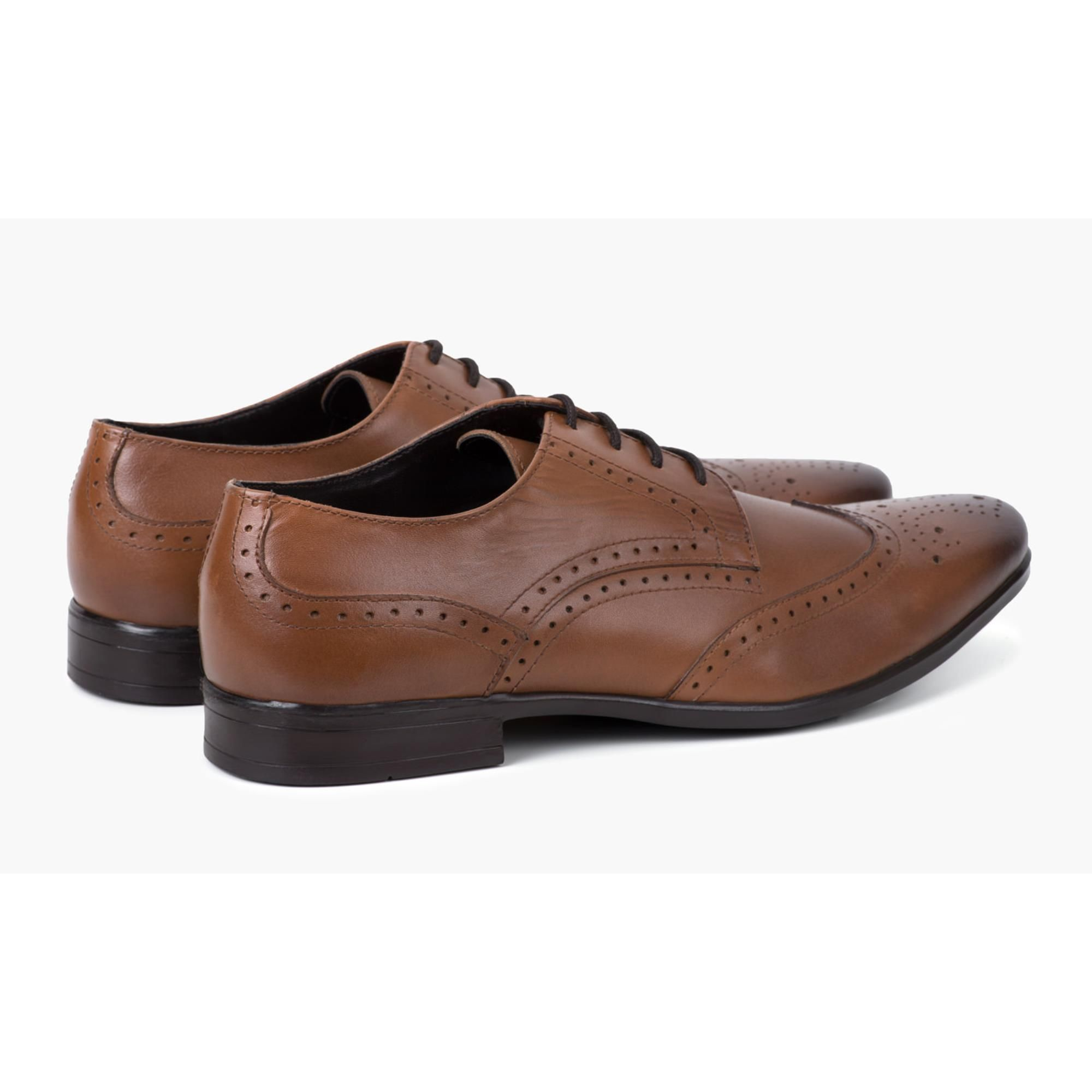 Redfoot Jenson Tan Leather Brogue Shoe