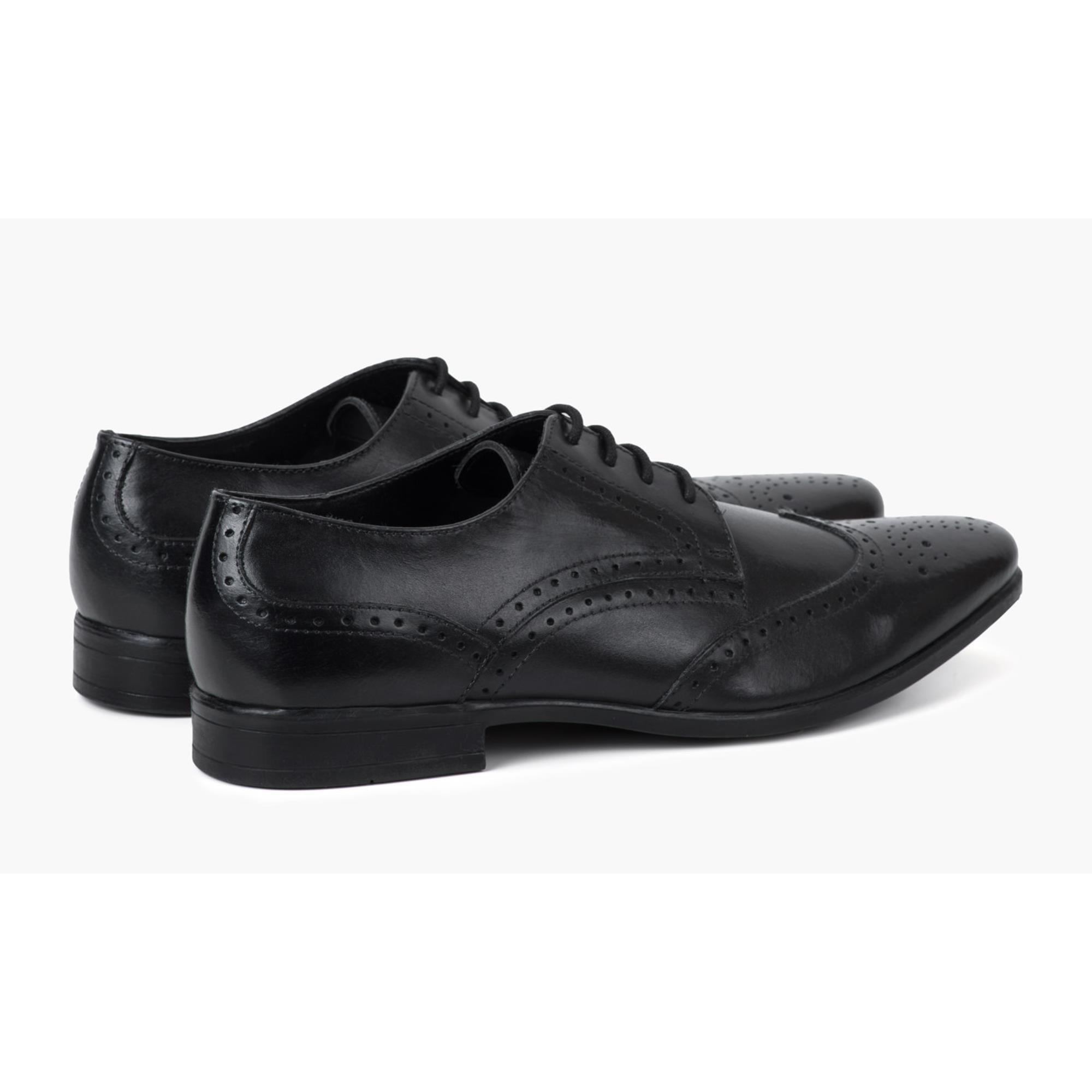 Redfoot Jenson Black Leather Brogue Shoe
