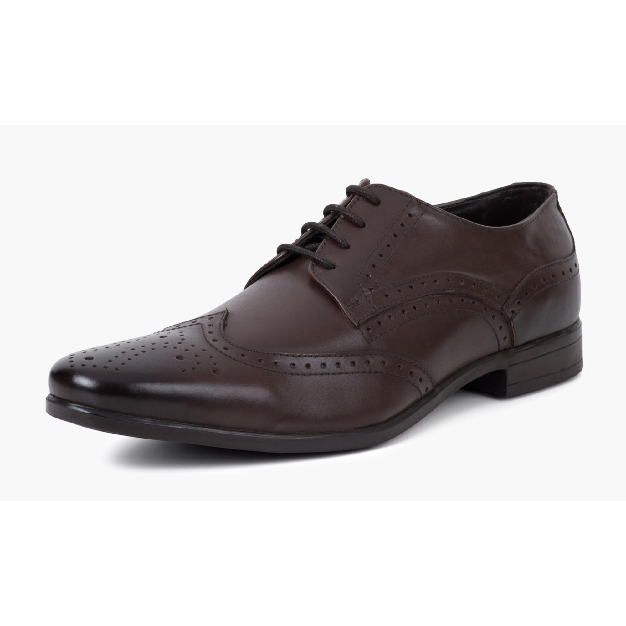 Redfoot Jenson Brown Leather Brogue Shoe