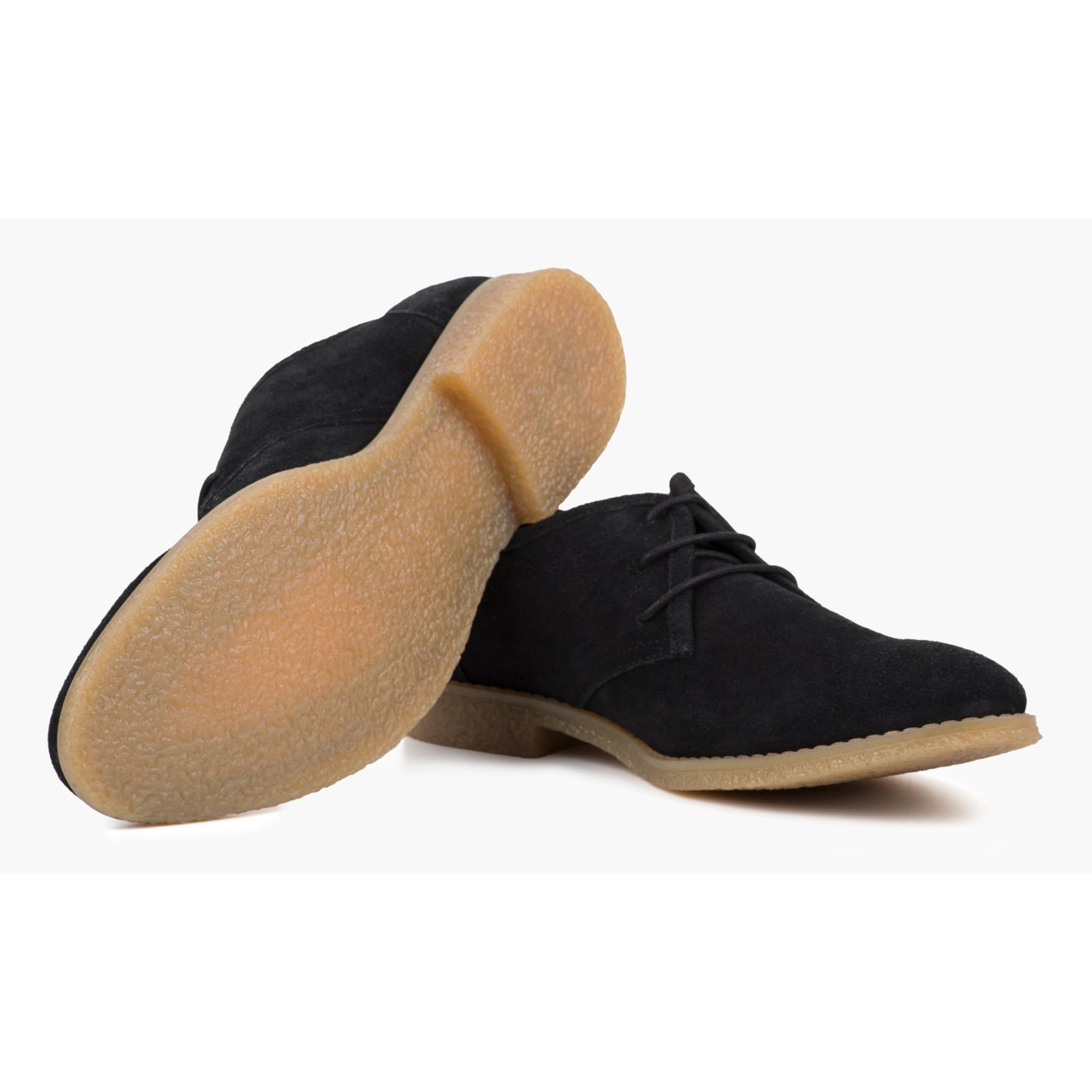 Redfoot Dan Black Suede Desert Shoe