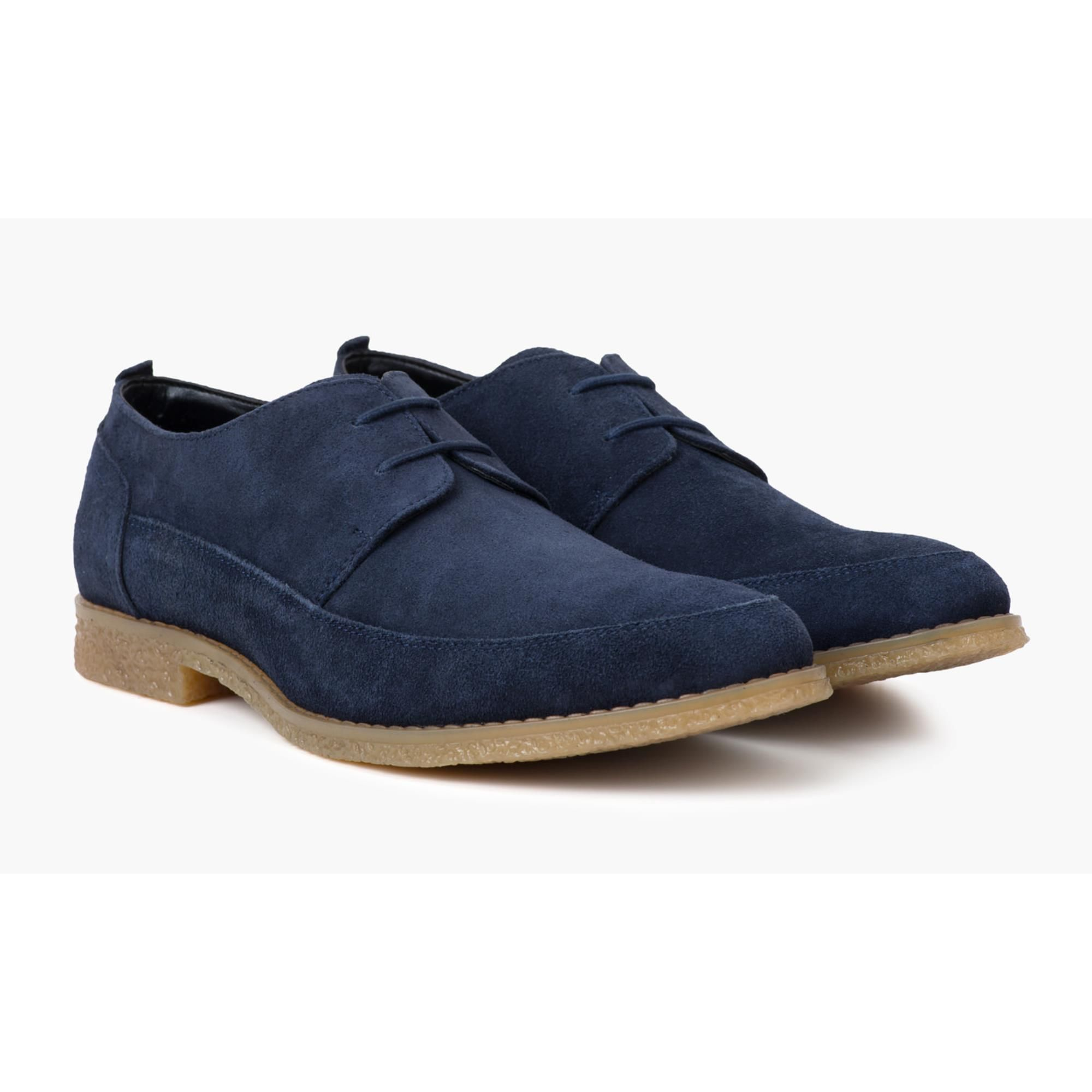 Redfoot Gobi Navy Suede Derby Shoe