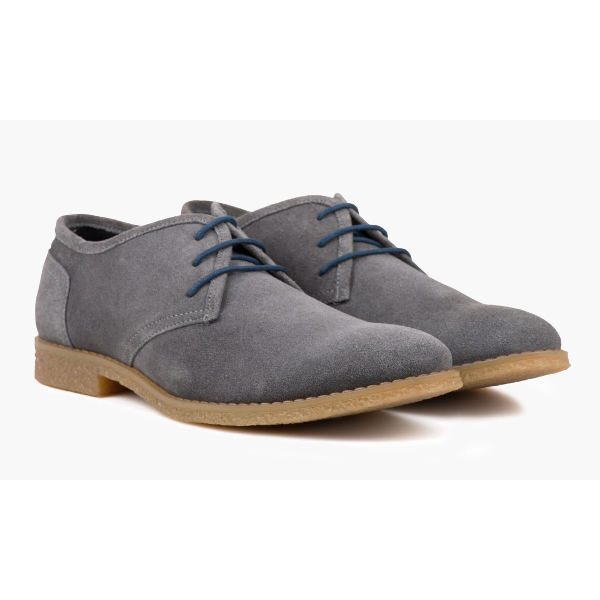Redfoot Dan Grey Suede Desert Shoe