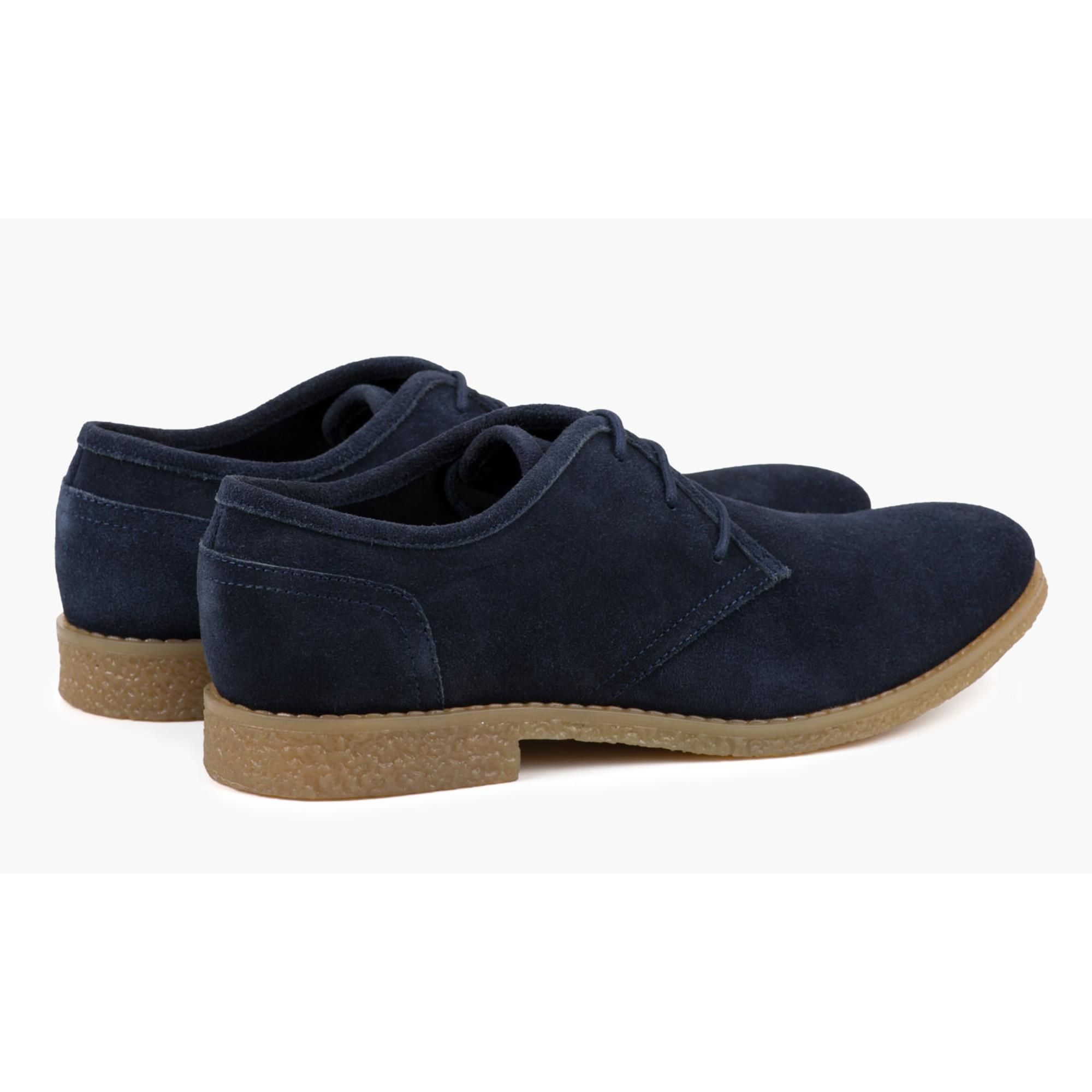 Redfoot Dan Navy Suede Desert Shoe