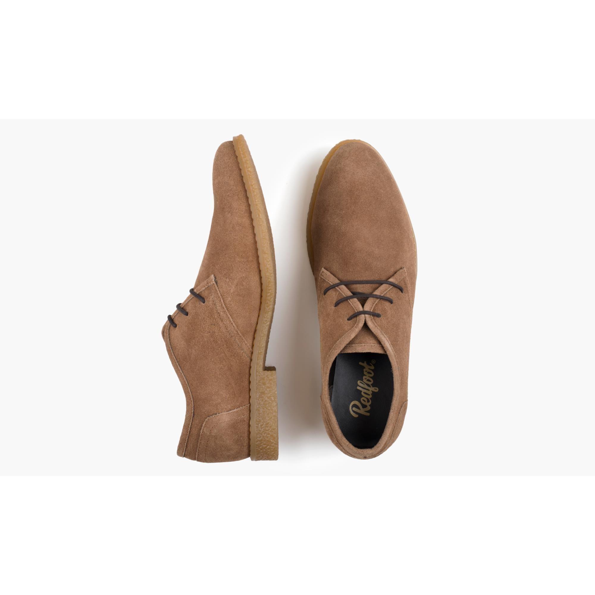 Redfoot Dan Chestnut Suede Desert Shoe