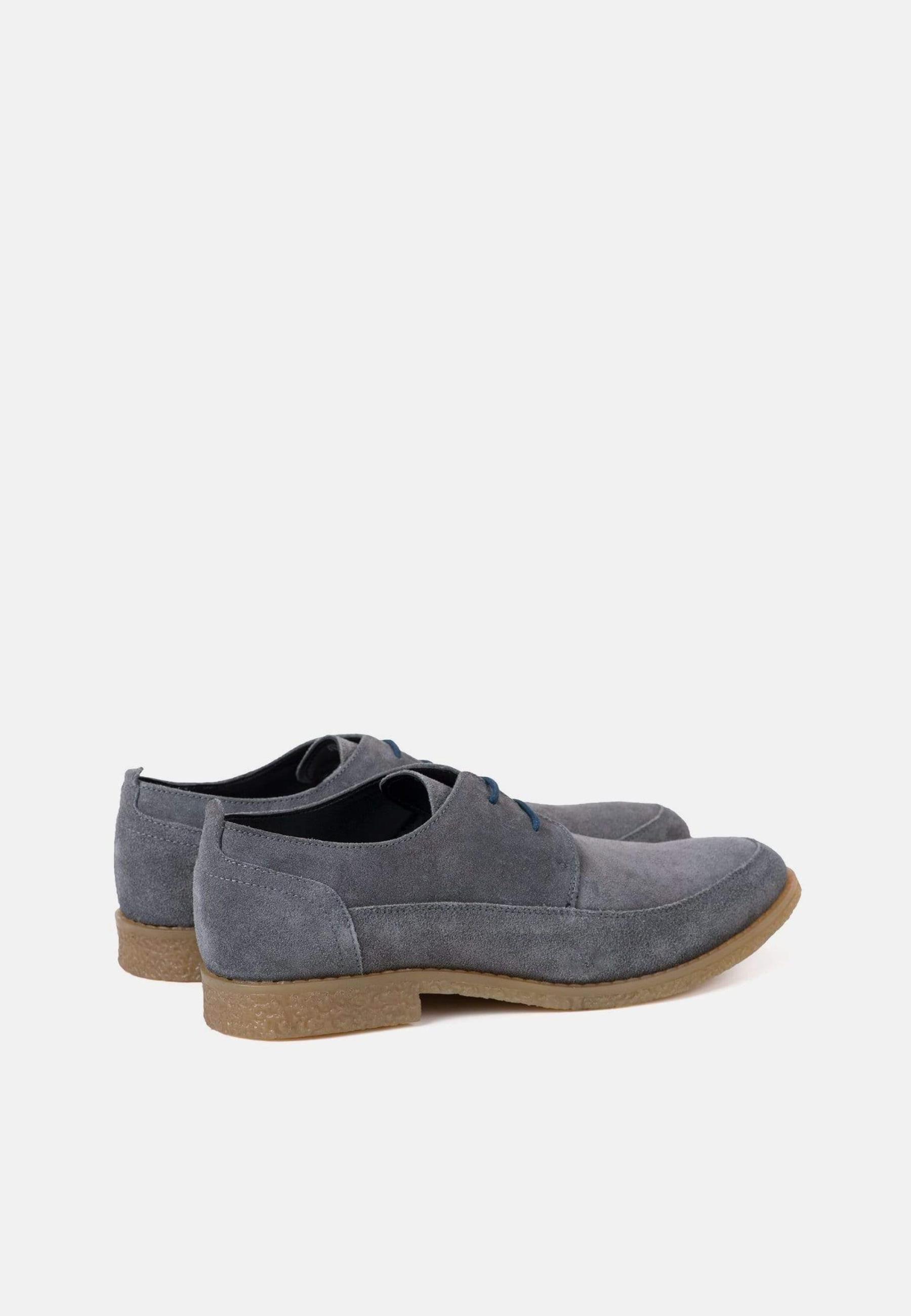Redfoot Gobi Grey Suede Derby Shoe
