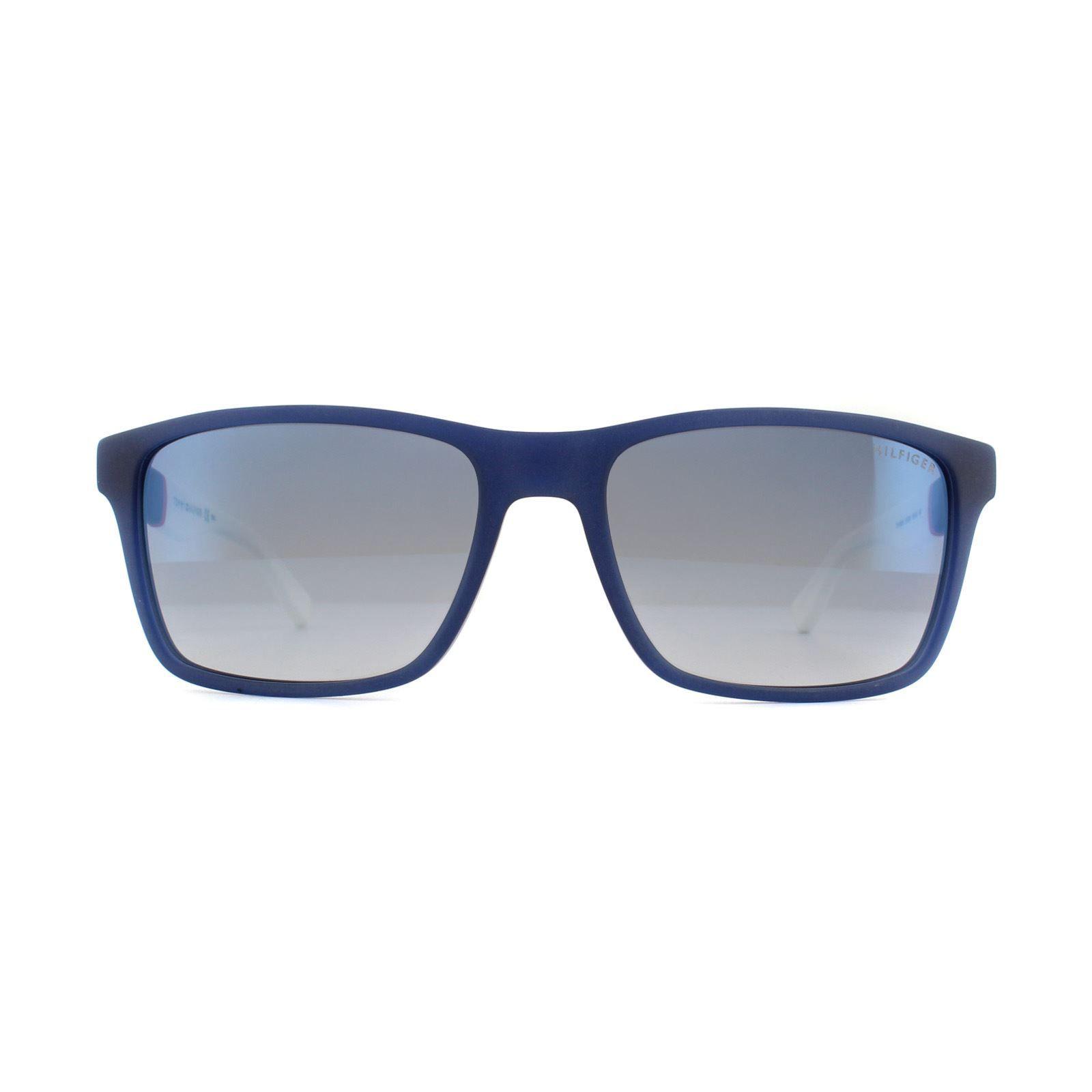 Tommy Hilfiger Sunglasses TH 1405/S H1O DK Blue Red White Light Blue Sky Flash