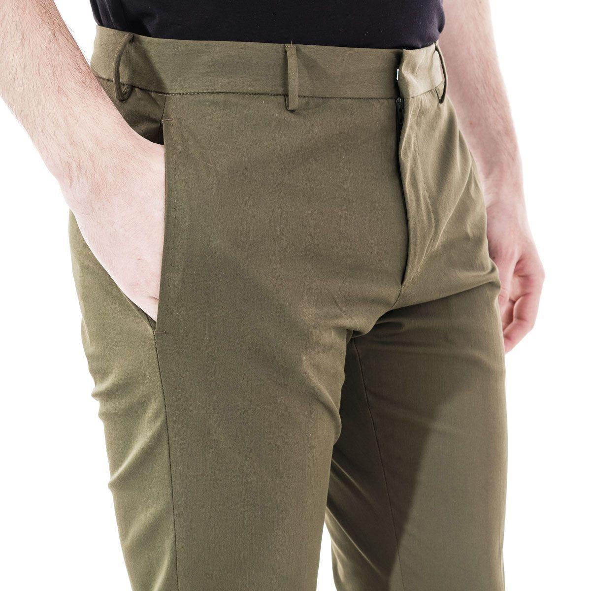 PT01 MEN'S COASEPZE0KLTMP45445 GREEN COTTON PANTS