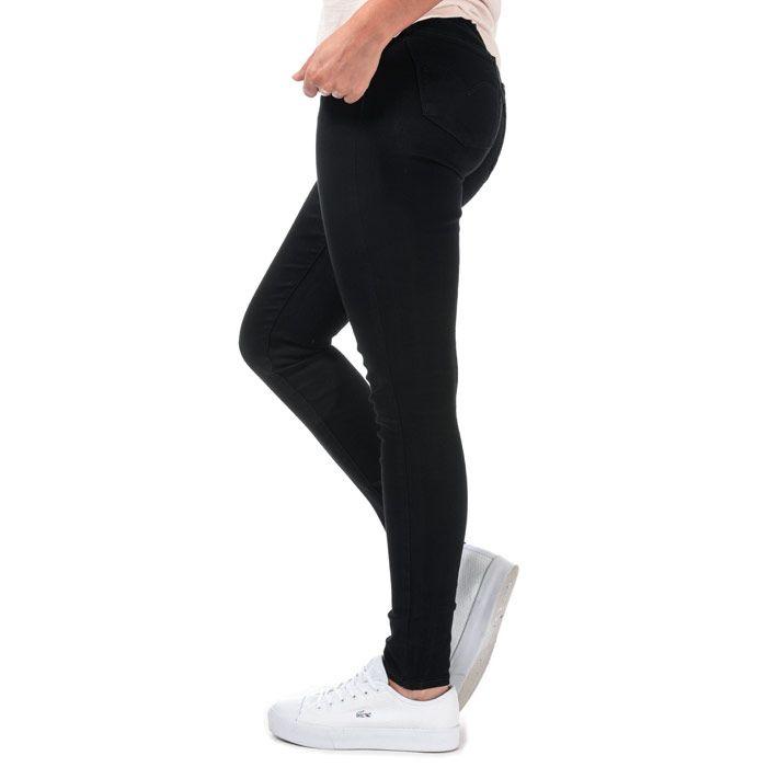 Women's Levis 710 Super Skinny Secluded Echo Jeans in Black