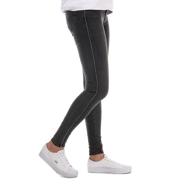 Women's Levis 710 Super Skinny Zip Past Jeans in Black