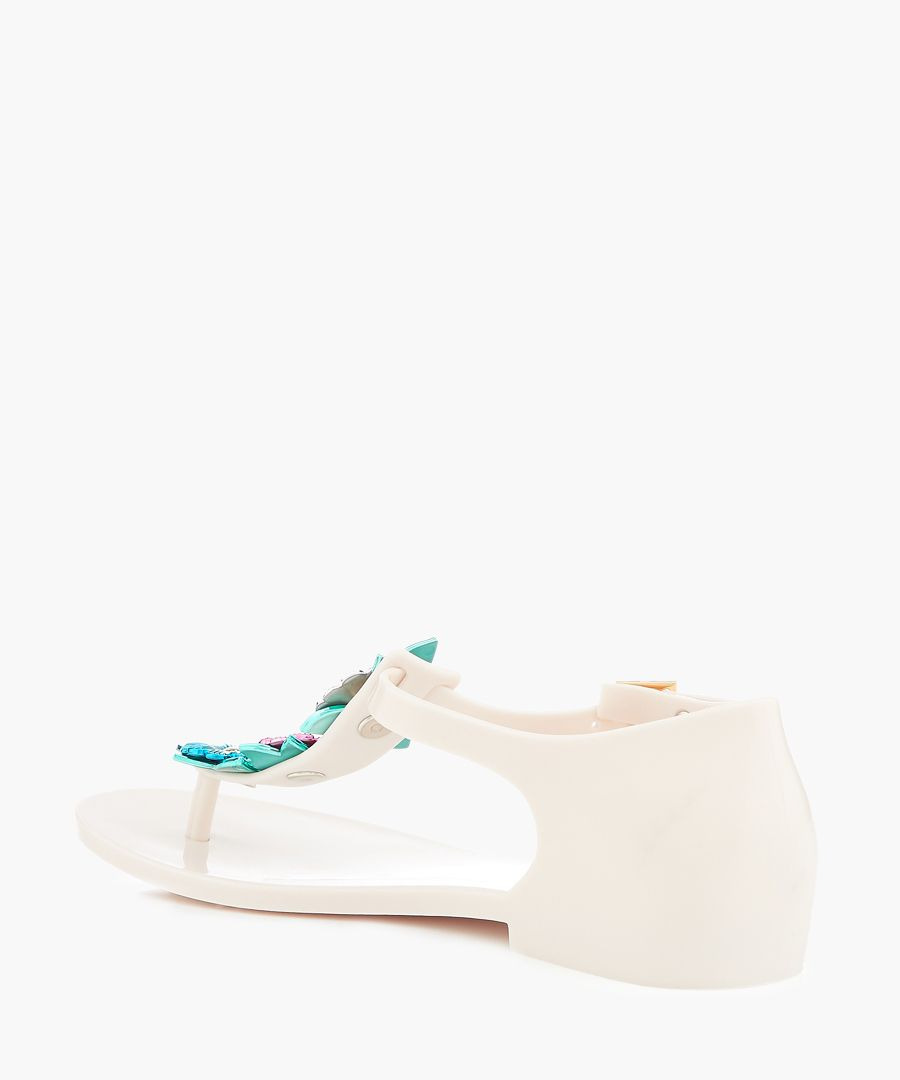Honey Nature white floral sandals