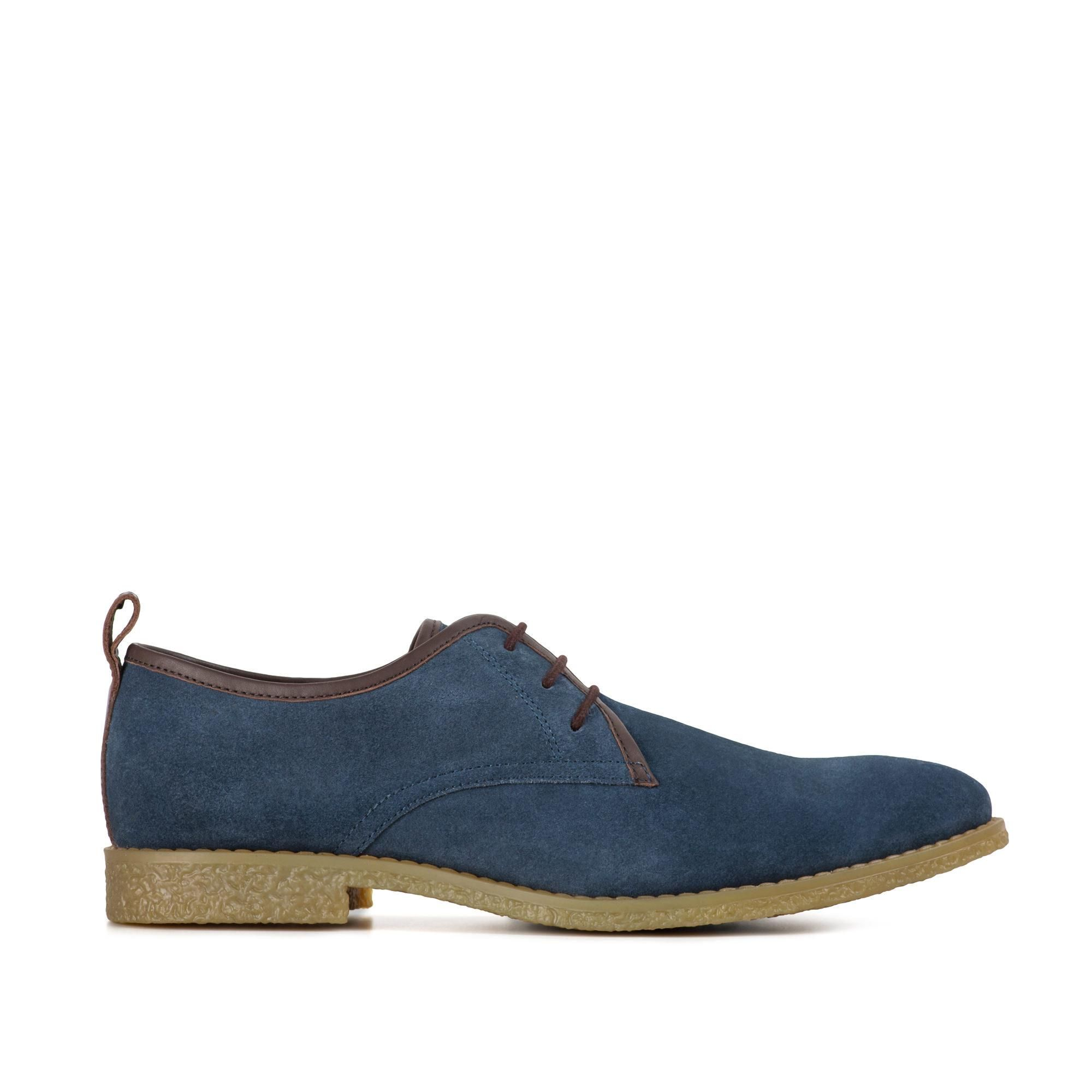 Redfoot Lewis Navy Suede Desert Shoe