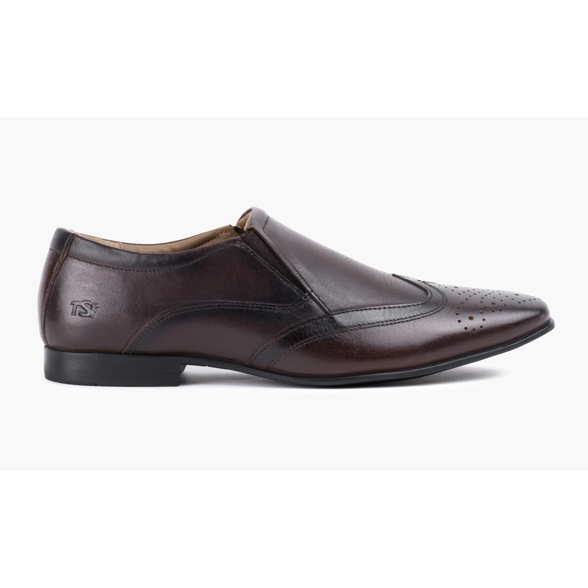 Redfoot Mens Brown Slip On Shoe
