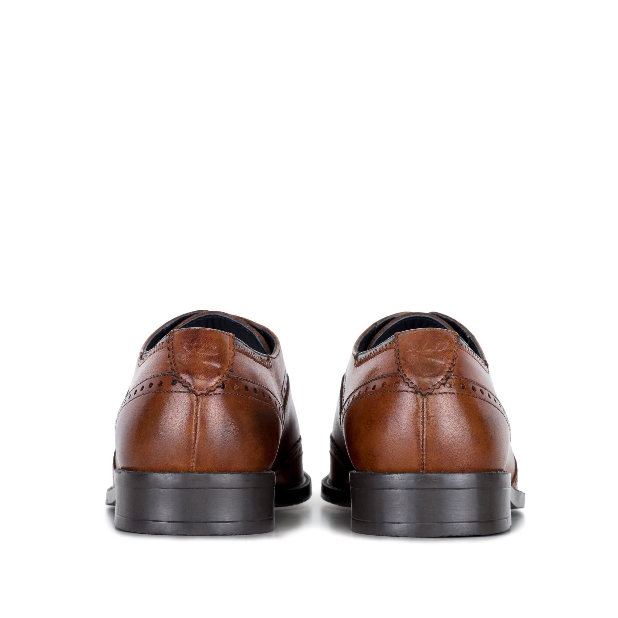 Goodwin Smith Albany Tan Winged Toe Oxford Leather Shoe
