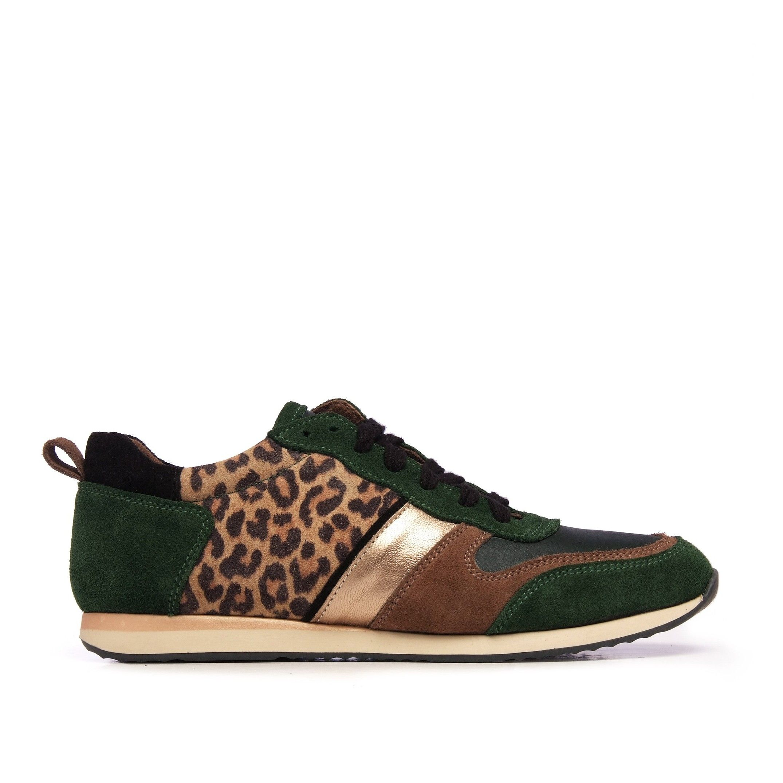 Eva López Leather Sneaker Women Laces Green Shoes