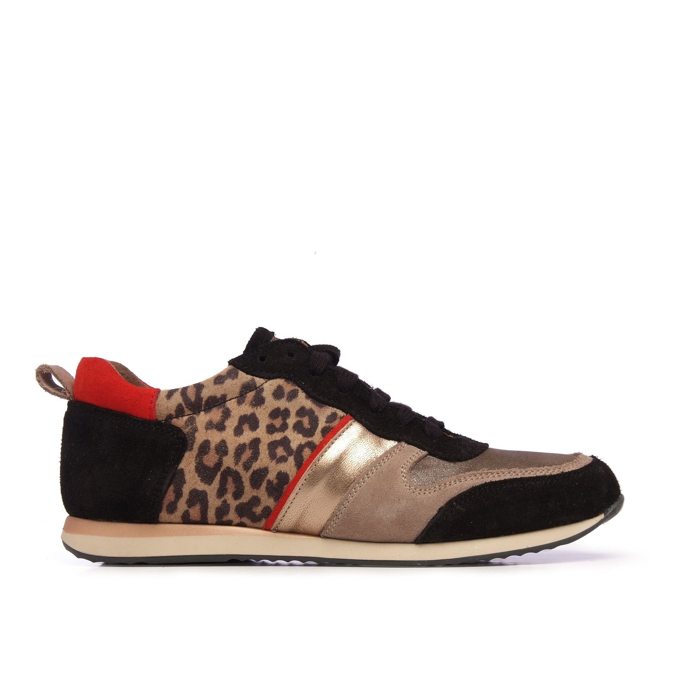 Eva López Leather Sneaker Women Laces Black Shoes