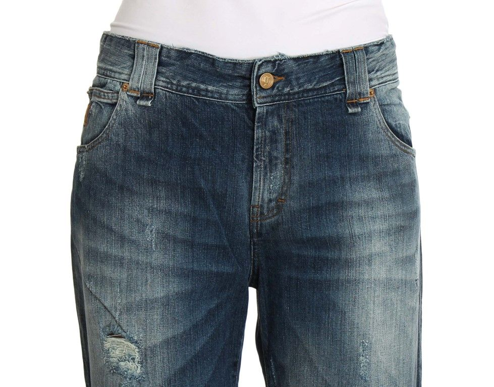 Galliano Blue Wash Cotton Stretch Relaxed Fit Jeans