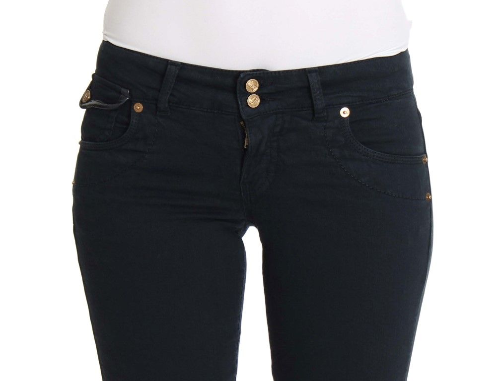 Galliano Blue Slim Fit Cotton Stretch Denim Jeans