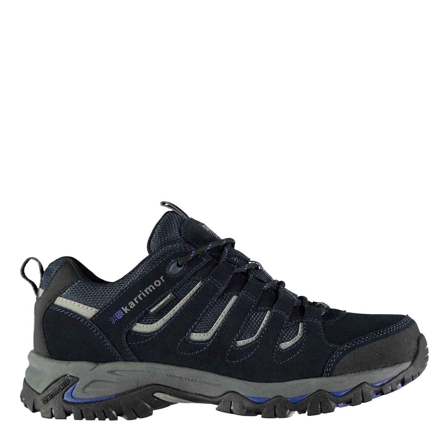 Karrimor Mens Mount Low Walking Shoes Lace Up Treking Hiking Weathertite