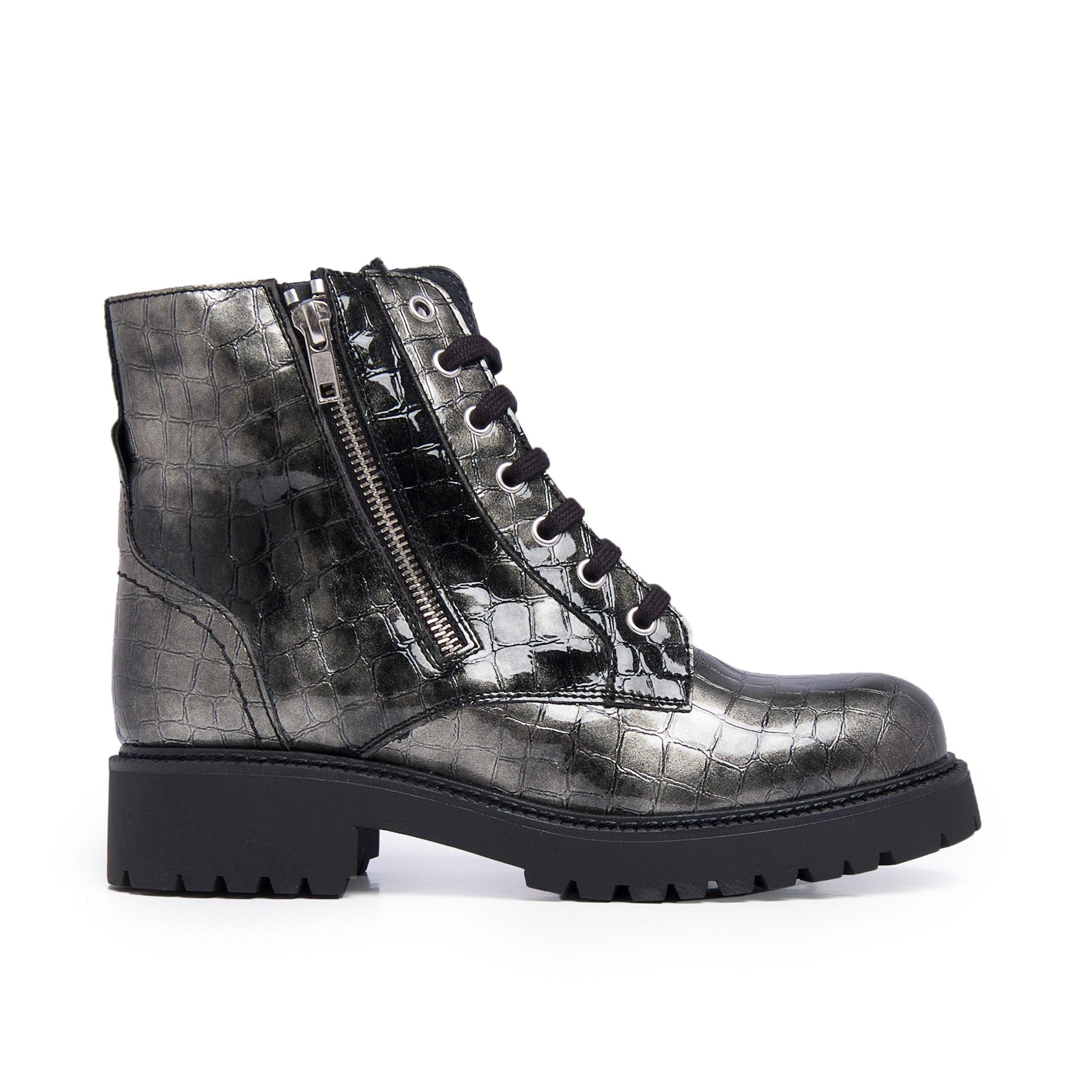 María Barceló Womens Winter Lace-Up Boots