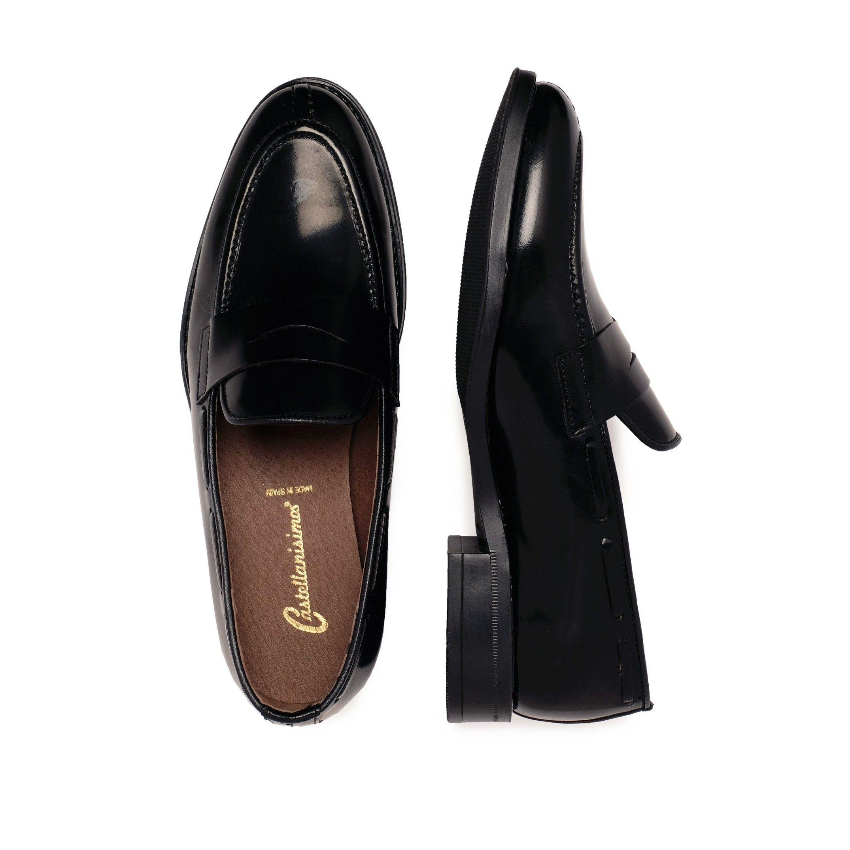 Castellanisimos Leather Black Moccasin Mask Men Shoes