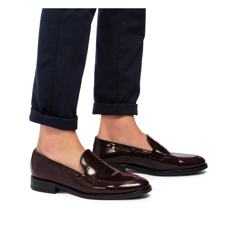 Castellanisimos Leather Boudeaux Moccasin Mask Men Shoes